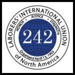 Laborers international Union 242 logo